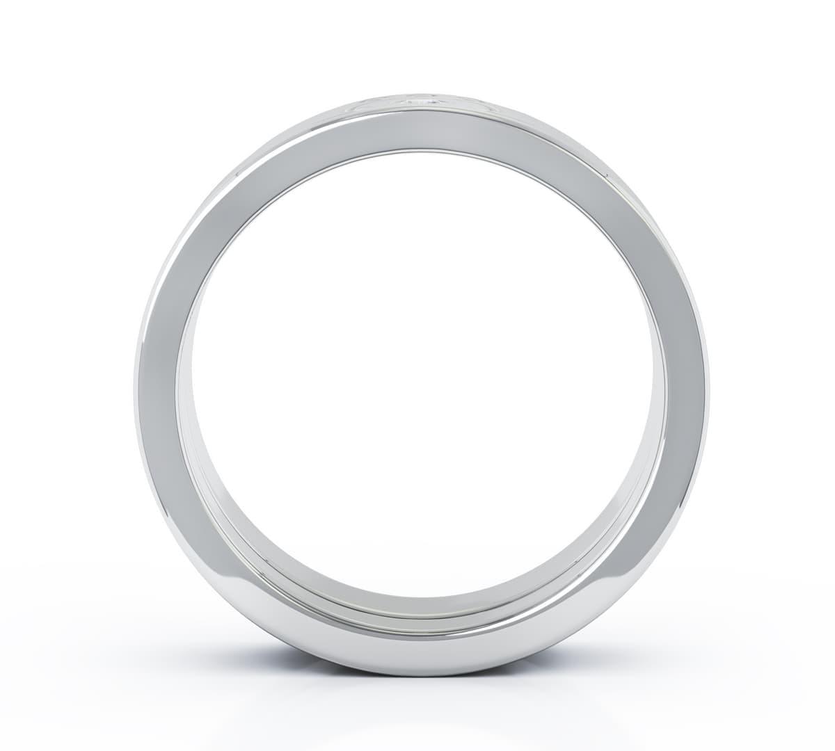 White Gold Diamond 2 Part Claddagh Ring