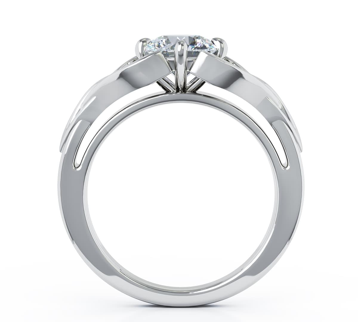0.50cts H Colour Diamond Celtic Engagement Ring