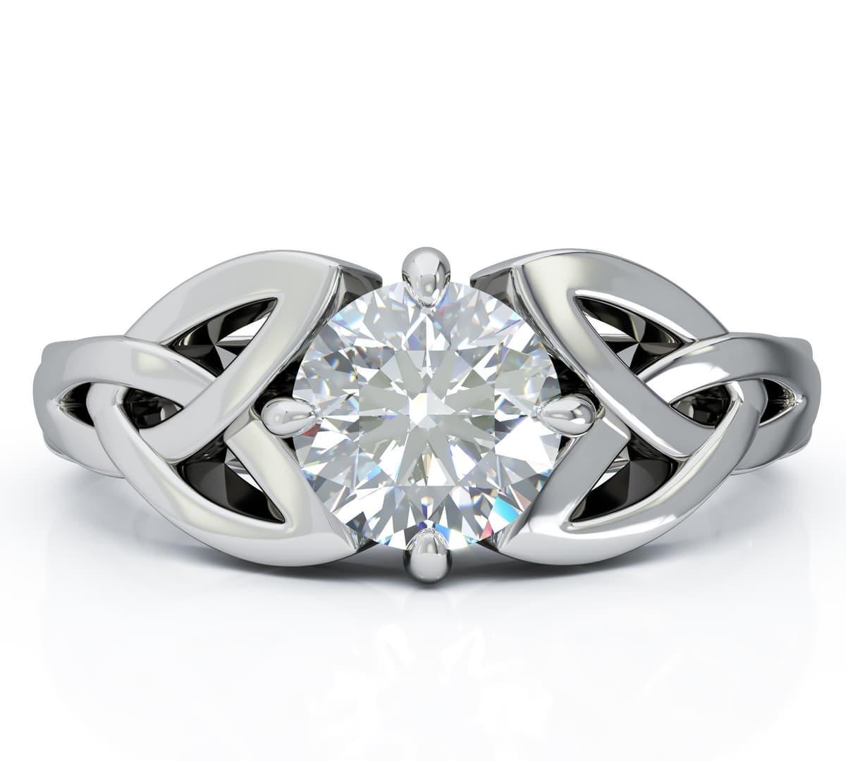 White Gold Diamond Celtic Engagement Ring