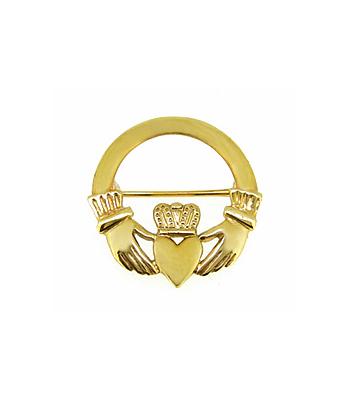 10K Gold Claddagh Brooch
