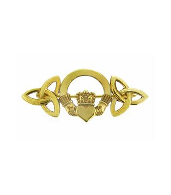 Claddagh And Trinity Knot Brooch