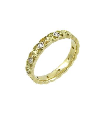 Yellow Gold Diamond Celtic Wedding Ring