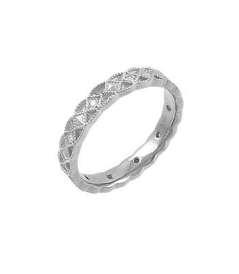 White Gold Diamond Celtic Wedding Ring