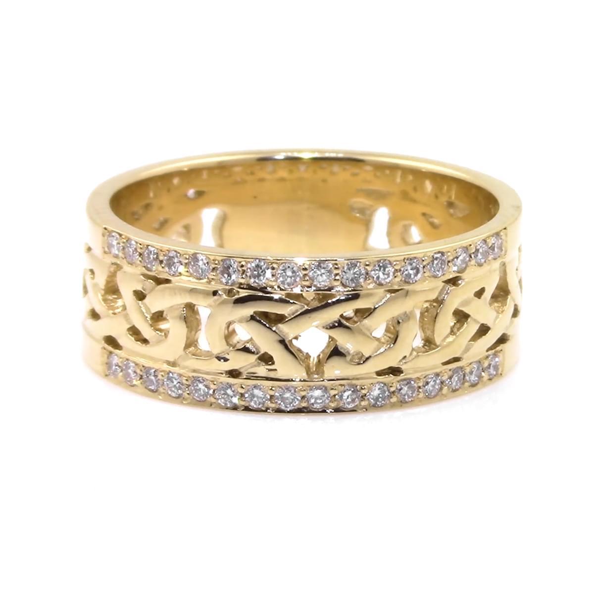 Yellow Gold Diamond Celtic Knot Ring