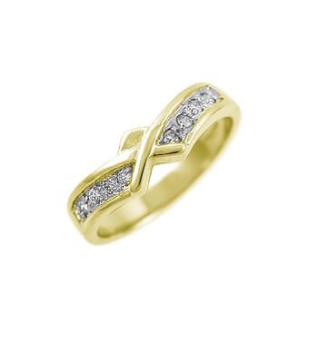 Yellow Gold Diamond Claddagh Wedding Ring