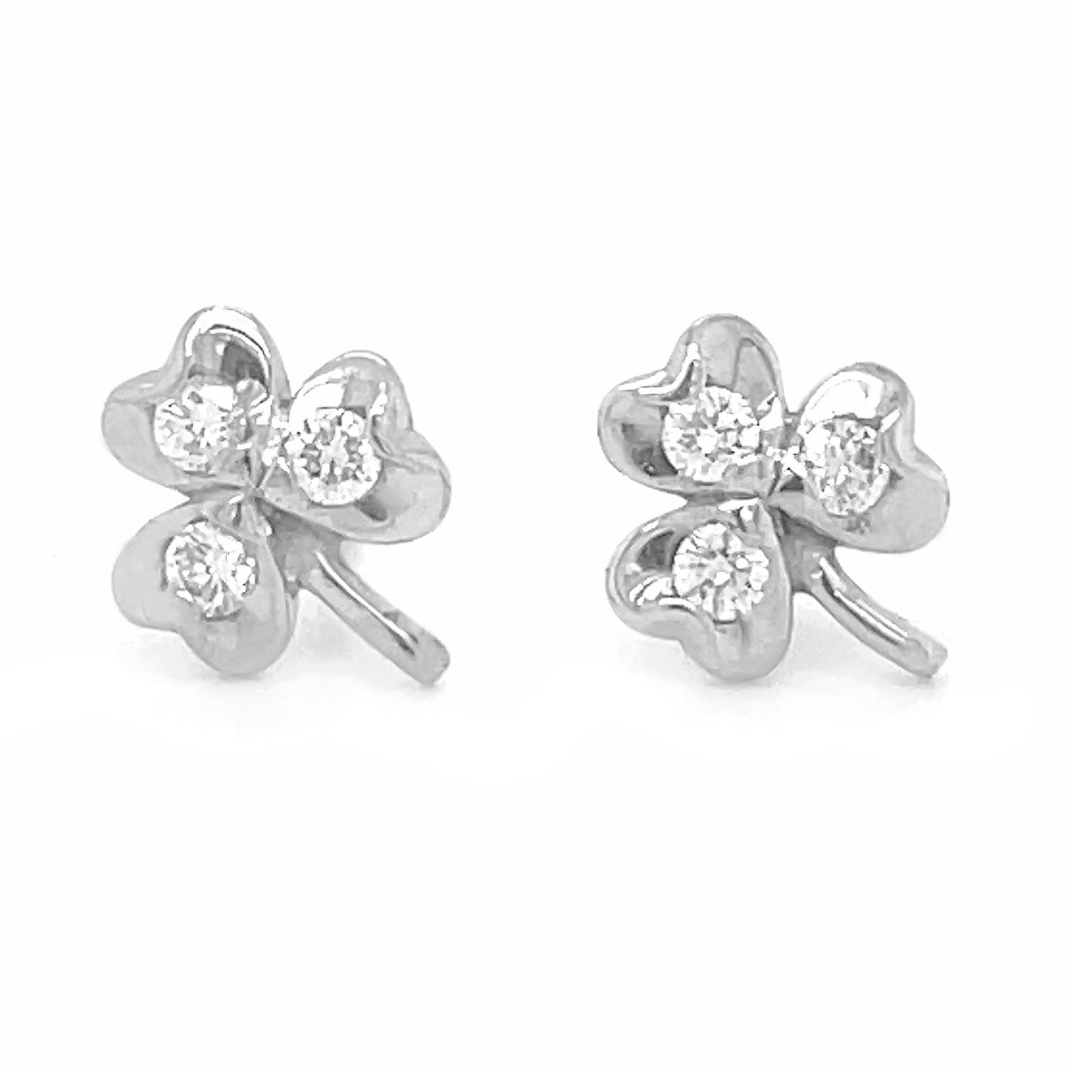 Diamond Shamrock Stud Earrings