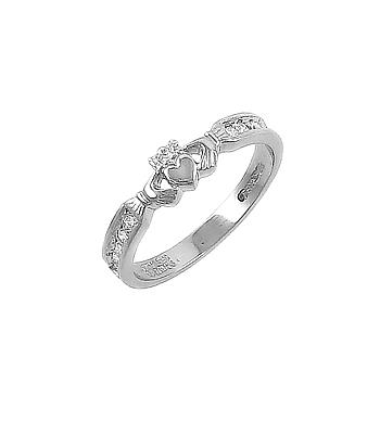 Brilliant Cut Diamond Claddagh Ring
