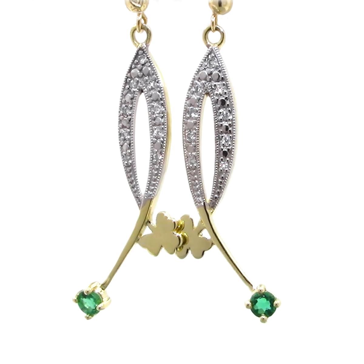 Diamond Shamrock Earrings