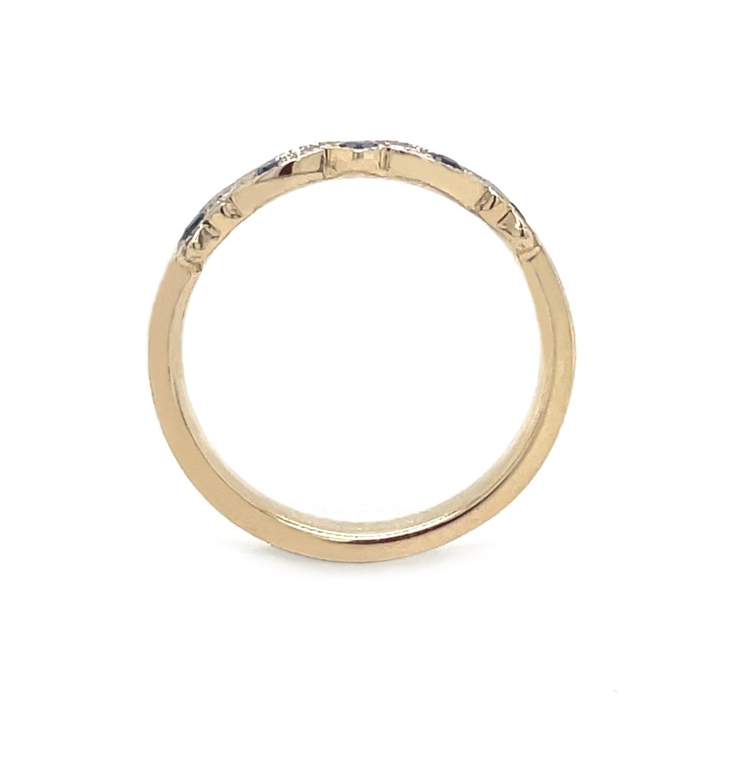 Sapphire & Diamond Gold Claddagh Wedding Ring