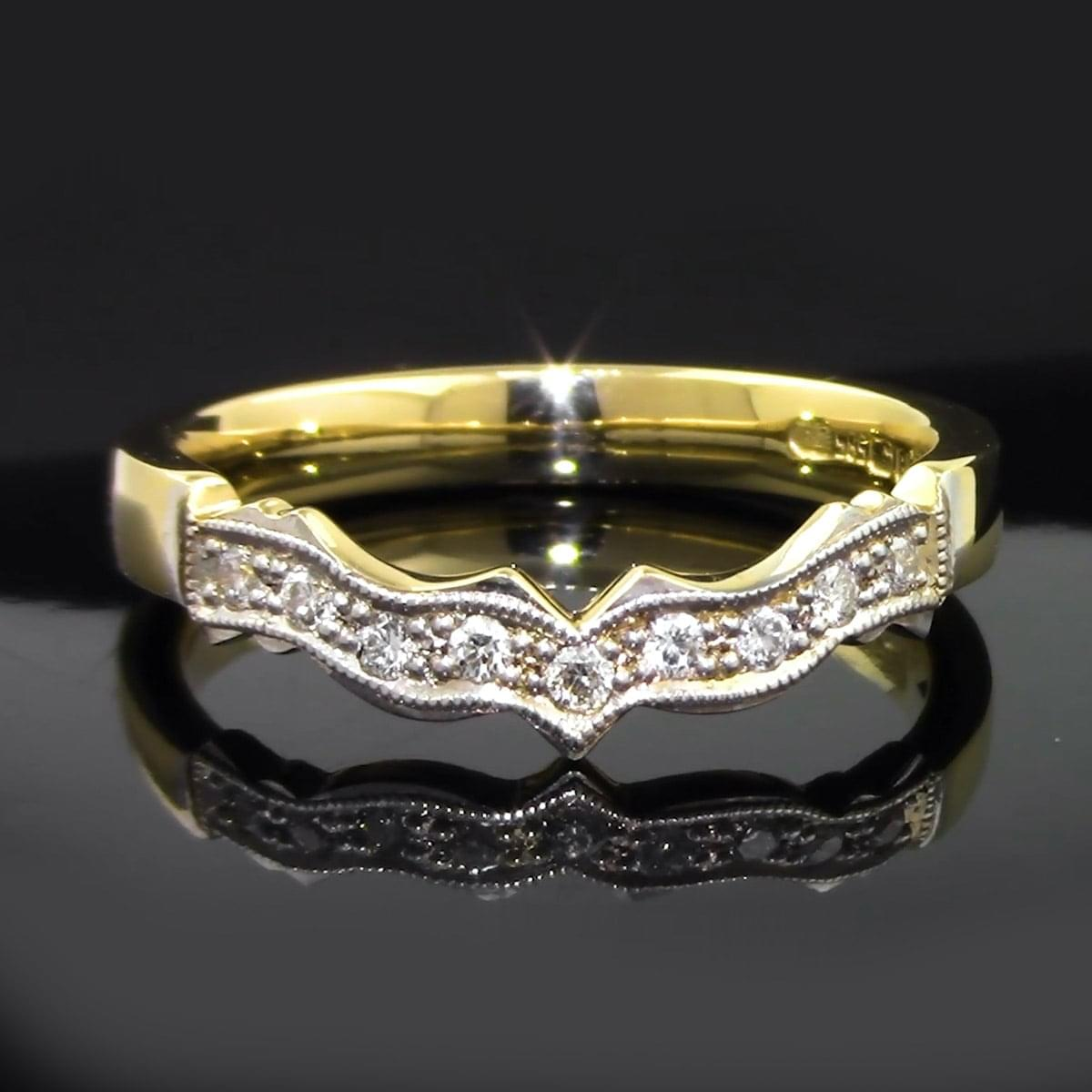 Diamond Claddagh Wedding Ring In 14k Gold