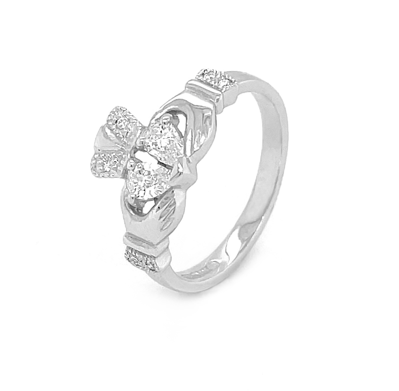Split Heart Claddagh Ring