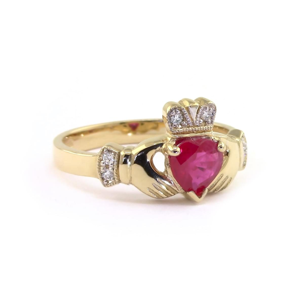 Claddagh Ring With Ruby