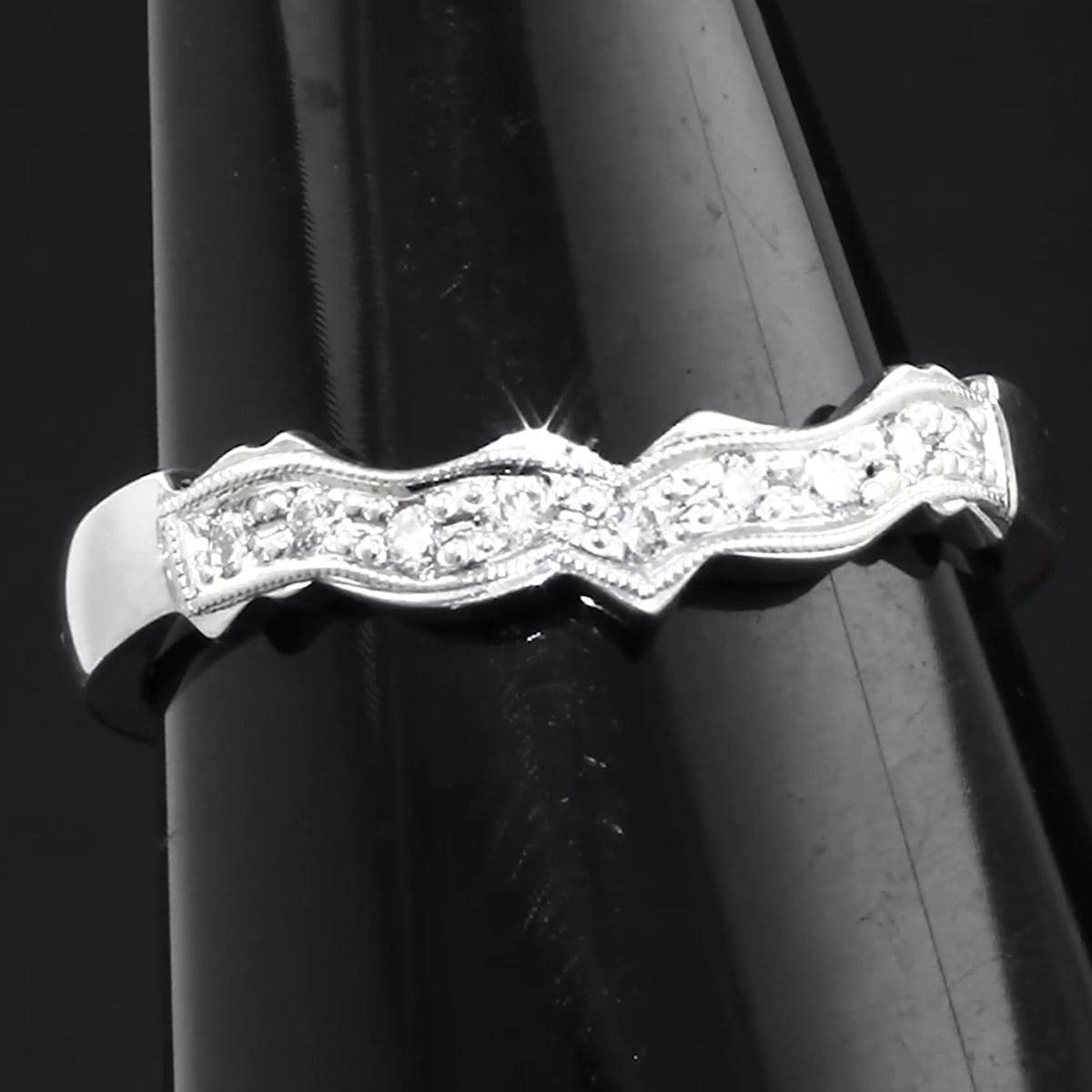 White Gold Diamond Claddagh Wedding Ring