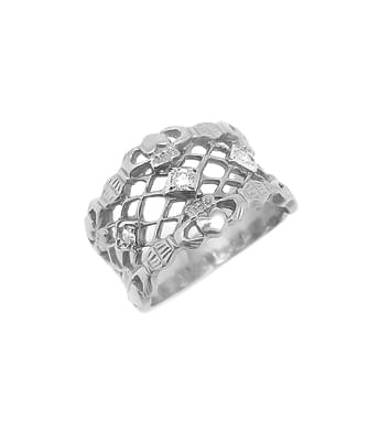 3 Stone Wide Ring