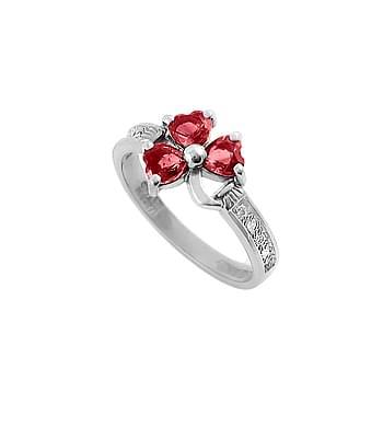Ruby Shamrock Ring