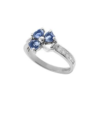Sapphire Shamrock Ring