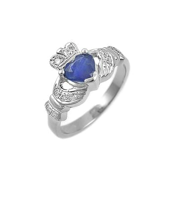 White Gold With Sapphire